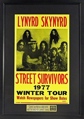 "Lynyrd Skynyrd Street Survivor Tour Concert Poster w/ ""Free Bird"" Plate (Framed) by Sports Gallery..."