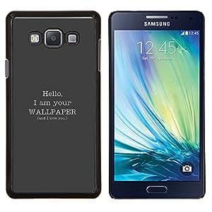 TECHCASE---Cubierta de la caja de protección para la piel dura ** Samsung Galaxy A7 ( A7000 ) ** --Hola fondo de pantalla