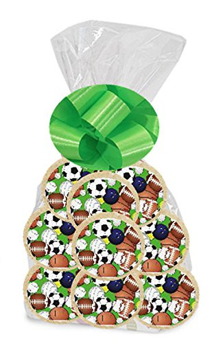 Sports Balls 24Pack Freshly Baked Individually Wrapped Party Favor Sugar Cookies