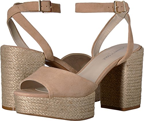 Kenneth Cole Suede Sandals (Kenneth Cole New York Women's Pheonix Platform Dress Heeled Sandal, Buff Suede, 9 M US)