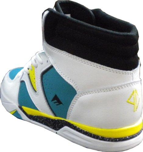 Emerica Skateboard Schuhe Braydon Hi White-Green - Shoes Skater Schuhe Sneakers Sneaker