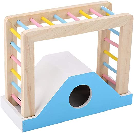 OTENGD Hamster Rainbow Bridge Juguete de Madera Diversión Jugar Juguetes Ejercicio físico Entrenamiento Escalera de Madera Escalada Kit Hábitat Decoración para hámsters Conejillo de Indias Conejo: Amazon.es: Productos para mascotas