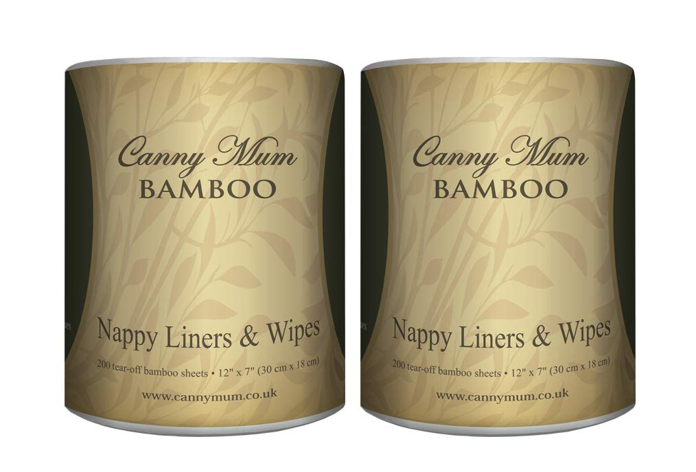 CannyMum Bamboo Real Nappy Liners & Baby Wipes. Biodegradable. 4 Rolls (800 Sheets) Canny Way