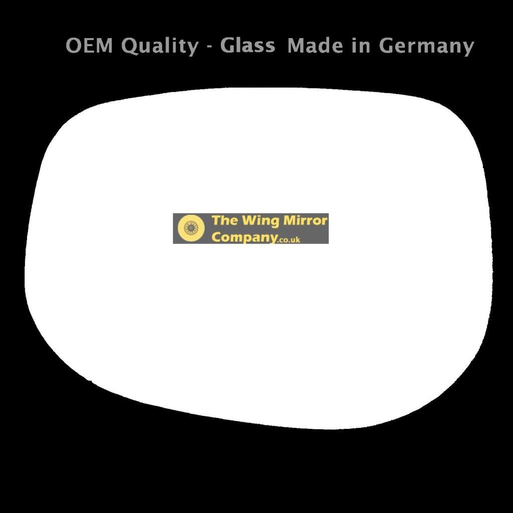 The Wing Mirror Company GL1013-HJ Silver Wing Door Mirror Glass Lh Passenger Side