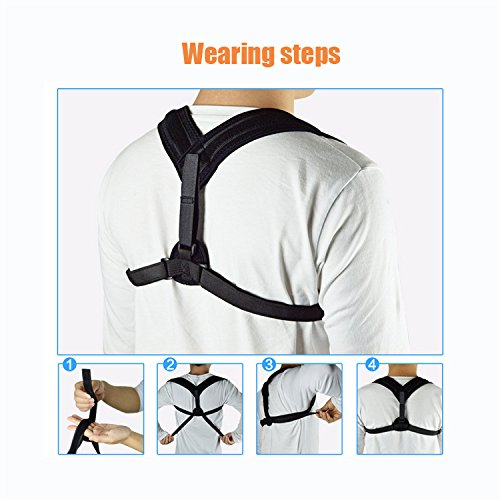 Posture Corrector for Men & Women – Adjustable Correcting Shoulder Support for Men & Women – Figure 8 Clavicle Posture Brace for Shoulder Alignment – Invisible Thoracic Brace for Hunching & Slouching by Altapolo