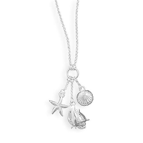 Amazon.com: Náutica Encanto Collar de vidrio con estrella de ...