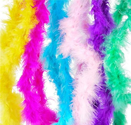 Rhode Island Novelty 44 Inch Mini Marabou Boa Assortment | 12 Pack -