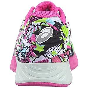 ASICS Women's Fuzex Running Shoe, White/Pink Glow/Soothing Sea, 8.5 M US