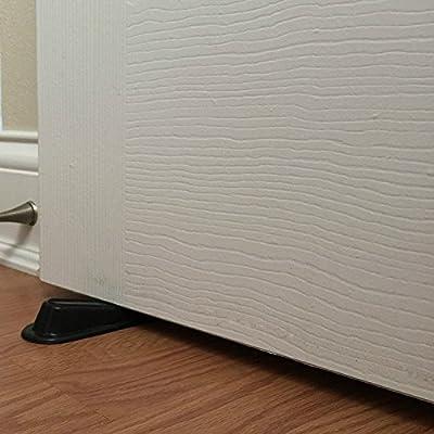 Door Stopper Rubber Doorstop 12 pack Rubber Doorstop Wedges For Home And Office Non Scratching Soft Door Stops Wedges Multi Surface Open Door Holders
