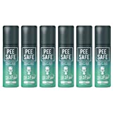 Pee Safe Toilet Seat Sanitizer Spray - 50 ml (Mint) (Pack of 6)