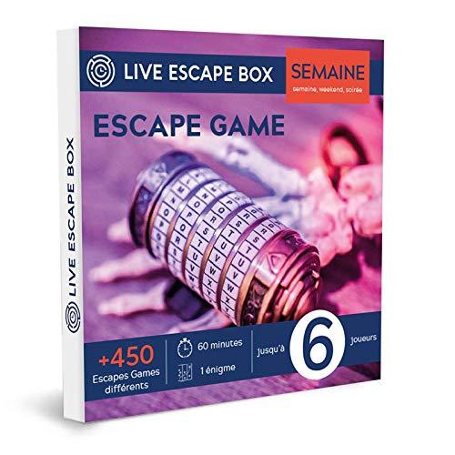 e-Coffret Cadeau Escape Game Semaine 6 Joueurs Live Escape Box