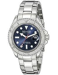 SO&CO New YorkMen's 5053.2 Yacht Timer Quartz Date Luminous Stainless Steel Link Bracelet Watch