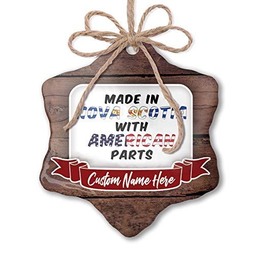 NEONBLOND Custom Family Ornament American Parts but Made in Nova Scotia Personalized Name
