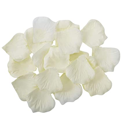 Cotosey 4000 Silk Rose Artificial Petals Supplies Wedding Decorations Ivory