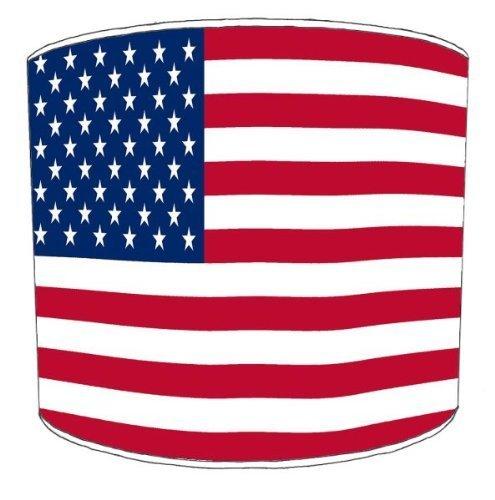 Premier–Abat-Jour Plafond Usa Flag Abat-jour tambour, 30,5cm Premier Lampshades