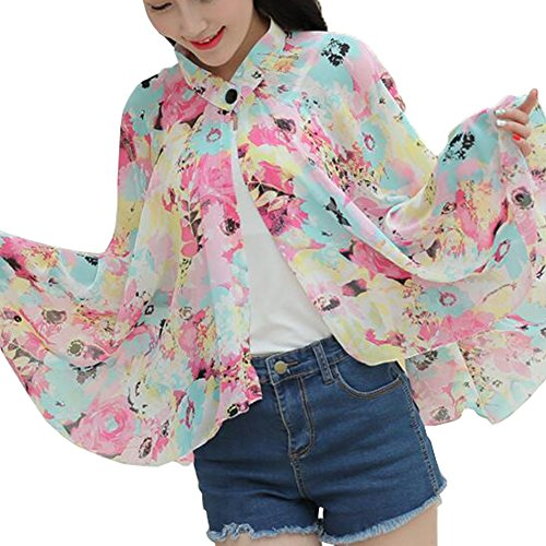 George Jimmy Sun Protective Clothing - Summer Chiffon Shawl Beach Coats Jackets-A1 by George Jimmy