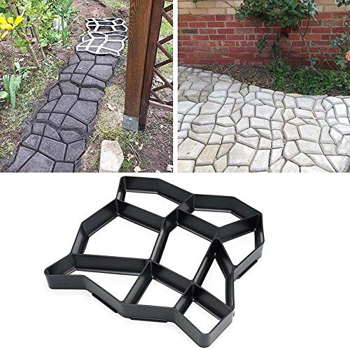 (Foonee DIY Concrete Stepping Stone Molds Plastic Reusable Path Walk Maker Paver for Garden Lawn)