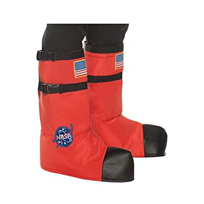 UNDERWRAPS Kid's Children's Astronaut Boot Top Covers Costume - Orange Childrens Costume, Orange, One Size: Clothing