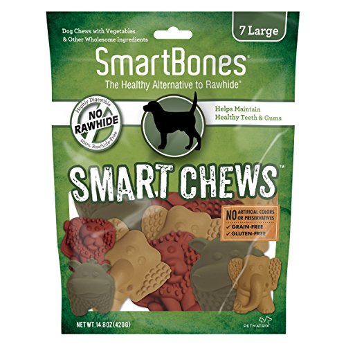 SmartBones Smart Chews Safari Chews for Dogs, Rawhide-Free (Treats Safari)