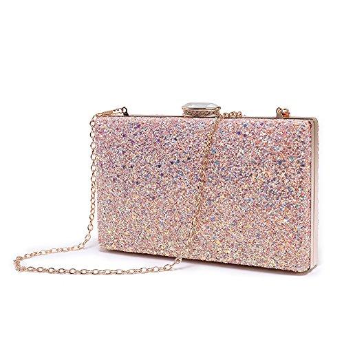 Sparkling Evening Bags Clutch Party Wedding Handbag Pink For Bride Elegant Glitter Dance Bling Prom Evening Purse SqFrw0Sx