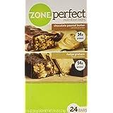 ZonePerfekt Nutrition Bars, Fudge Graham/Chocolate Peanut Butter Combo. 1.76 OZ, 24 Bars