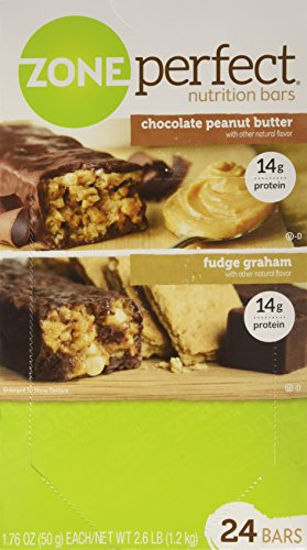 ZonePerfect Nutrition Bars, Fudge Graham/Chocolate Peanut Butter Combo. 1.76 OZ, 24 - Case Fudge