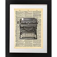 Vintage Typewriter Vintage Dictionary Print 8x10 inch Home Vintage Art Abstract Prints Wall Art for Home Decor Wall Decorations For Living Room Bedroom Office Ready-to-Frame