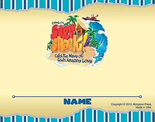 Vacation Bible School (VBS) 2016 Surf Shack Nametag Cards (Pkg of 24): Catch the Wave of God's Amazing Love