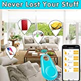 6 Pack Smart Key Finder Locator GPS Tracking Device for Kids Boys Girls Pets Cat Dog Keychain Wallet Luggage Anti-Lost Tag Alarm Reminder Selfie Shutter APP Control Compatible iOS Android
