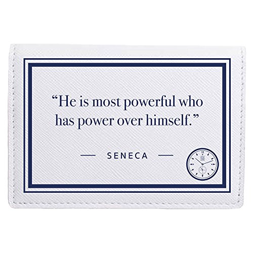 Stoic Time Seneca Power Quote Card Holder