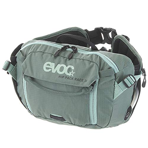 Evoc Hip Pack Race 3L with 1.5L Bladder Olive/Light Petrol, One Size ()