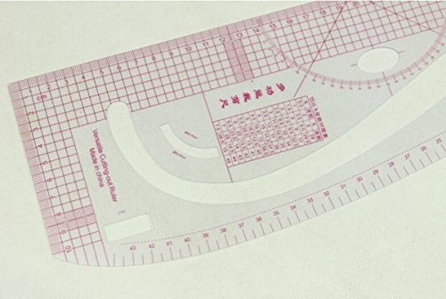 Show 1 Piece Multi -Purpose Fashion Scales ,Versatile Cutting-out Ruler,Professional Pattern Maker Fashion Master,FASHION DESIGNER'S C-THRU VERSATILE CUTTING OUT CURVED RULER price