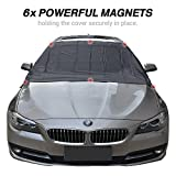 Windshield Cover for Ice Snow Winter Car Covers with Magnetic Edges, AYAMAYA 6x Magnets Winter Snow Removal Protect Car Windshield & Wiper, Fit Most Cars Waterproof Windproof Outdoor