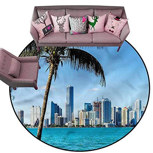 Anti-Fatigue Comfort Mat Coastal,Biscayne Buildings in Miami Diameter 78