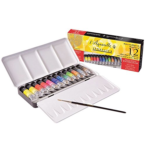 Sennelier Watercolor Metal Box 12 Tube (Watercolor Metal)