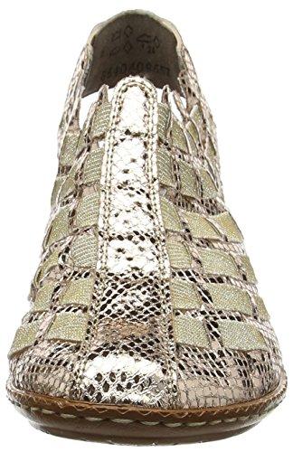 Rieker 46778-90, Mules Femme, Doré Or (90 90)