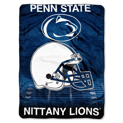 The Northwest Company Officially Licensed NCAA Penn State Nittany Lions Overtime Micro Raschel Throw Blanket, 60