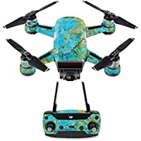 Skin for DJI Spark Mini Drone Combo - Teal Marble| MightySkins Protective, Durable, and Unique Vinyl Decal wrap cover | Easy To Apply, Remove, and Change Styles | Made in the USA