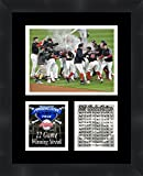Cleveland Indians 22 Game Winning Streak MLB 2017, 11 x 14 Matted Collage Framed Photos Ready to hang