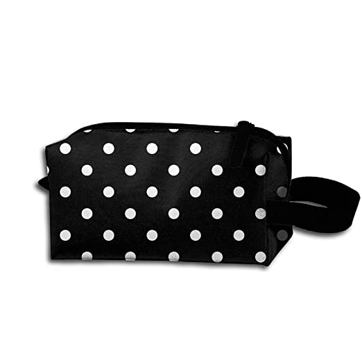 a9e050bd6050 Image Unavailable. Image not available for. Color  Polka Dot Makeup Bag ...