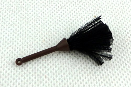 Duster Plastic Handle - Melody Jane Dolls House Black Feather Duster Miniature 1:12 Kitchen Cleaning Maids Accessory