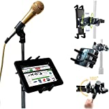 ipad microphone stand mount - ChargerCity Custom Music/ Microphone Tablet Stand Mount with Multi Swivel Adjustment Holder for New Apple IPAD MINI Google Nexus 7 KINLE Fire BN Nook HD Color Samsung Galaxy Tab 7 7.7 & other 7
