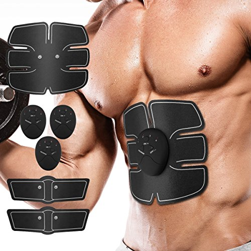 M1 Muscle Toner, Hihappi Abdominal Toning Belt EMS ABS Toner Body Muscle Trainer Wireless Portable Unisex Fitness Training Gear for Abdomen/Arm/Leg Training Home Office Exercise Workout Equipment