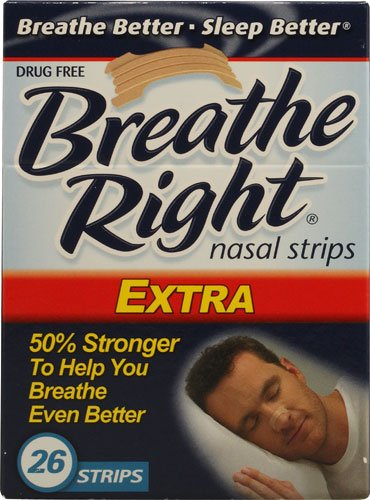 Breathe Right Extra Nasal Strips -- 26 Strips - 3PC by Breathe Right