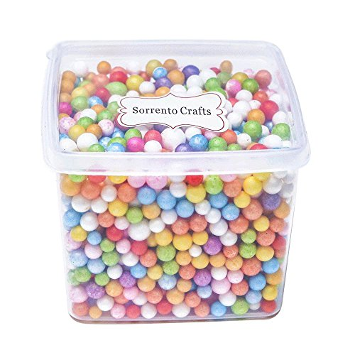 Styrofoam Balls 0.2-0.39 Inch Multi Color Foam Balls 1bucket(Approx 1500Pcs) (Mixed Colors)