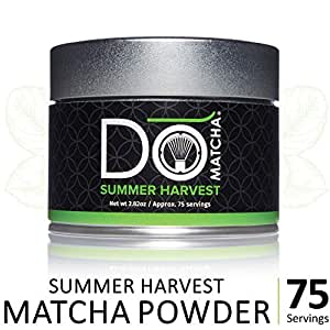 DoMatcha - Summer Harvest Matcha Powder, Natural Source of Antioxidants, Caffeine, and L-Theanine, Promotes Focus and Relaxation, 75 Servings (2.82 oz)