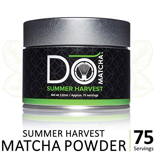 DoMatcha - Summer Harvest Green Tea Matcha Powder, Natural Source of Antioxidants, Caffeine, and L-Theanine, Promotes Focus and Relaxation, 75 Servings (2.82 oz)
