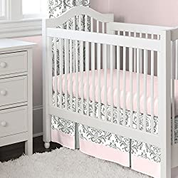Carousel Designs Pink and Gray Traditions 2-Piece Crib Bedding Set