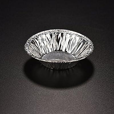Lautechco® 250pcs Disposable Aluminum Foil Baking Cookie Muffin Cupcake Egg Tart Mold Round