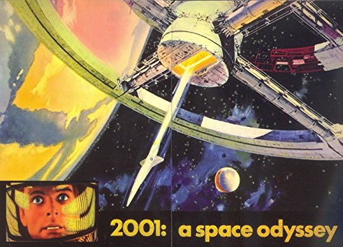 VINTAGE POSTER SCI-FI HORROR 2001: A SPACE ODYSSEY PUZZLE INSERT SET P1A + P1B (2001 Space Odyssey Collectible compare prices)